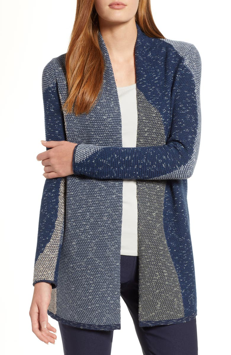 NIC+ZOE Out Of Office Colorblock Cardigan, Main, color, 490