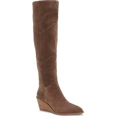 1.state Kern Over The Knee Boot- Beige