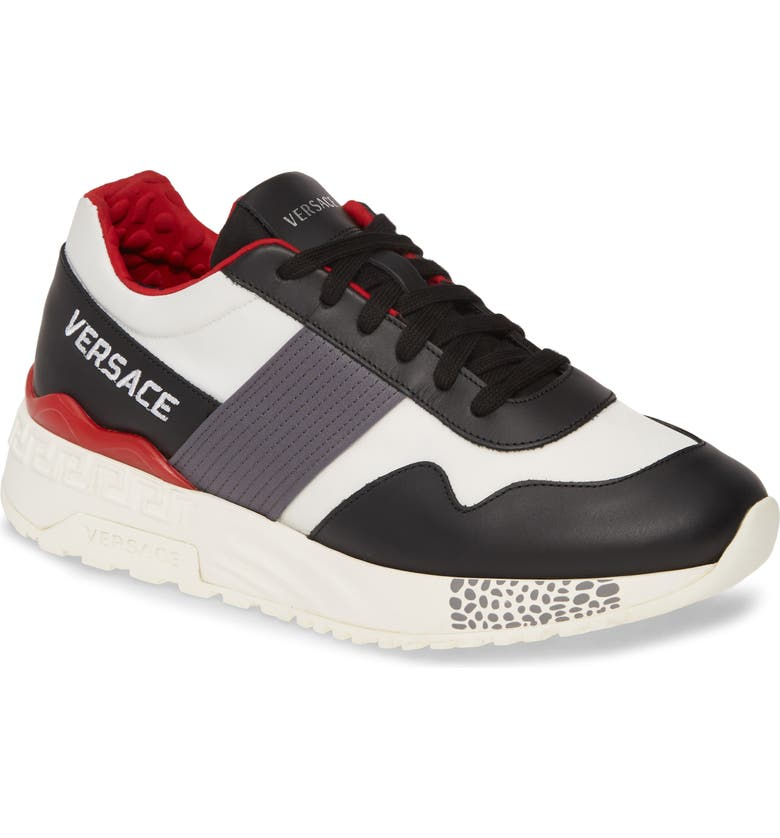 VERSACE Achilles Classic Sneaker, Main, color, NERO/ MUSHROOM/ BIANCO