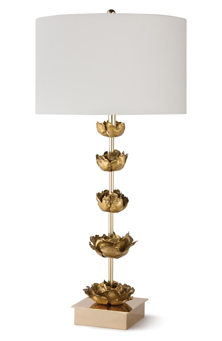 REGINA ANDREW DESIGN Adeline Tiered Bloom Table Lamp, Main, color, GOLD