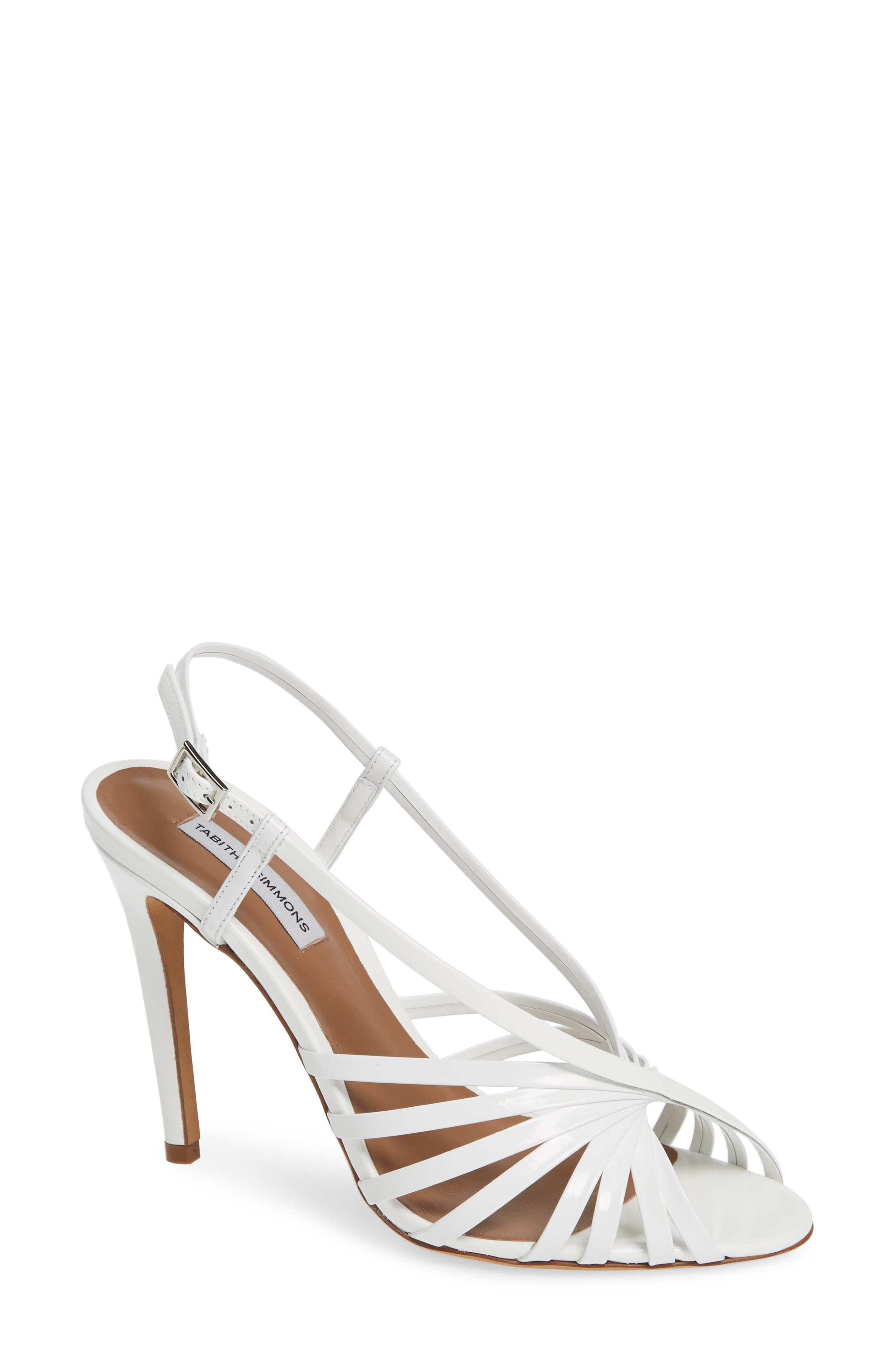 Tabitha Simmons Jazz Strappy Sandal, White