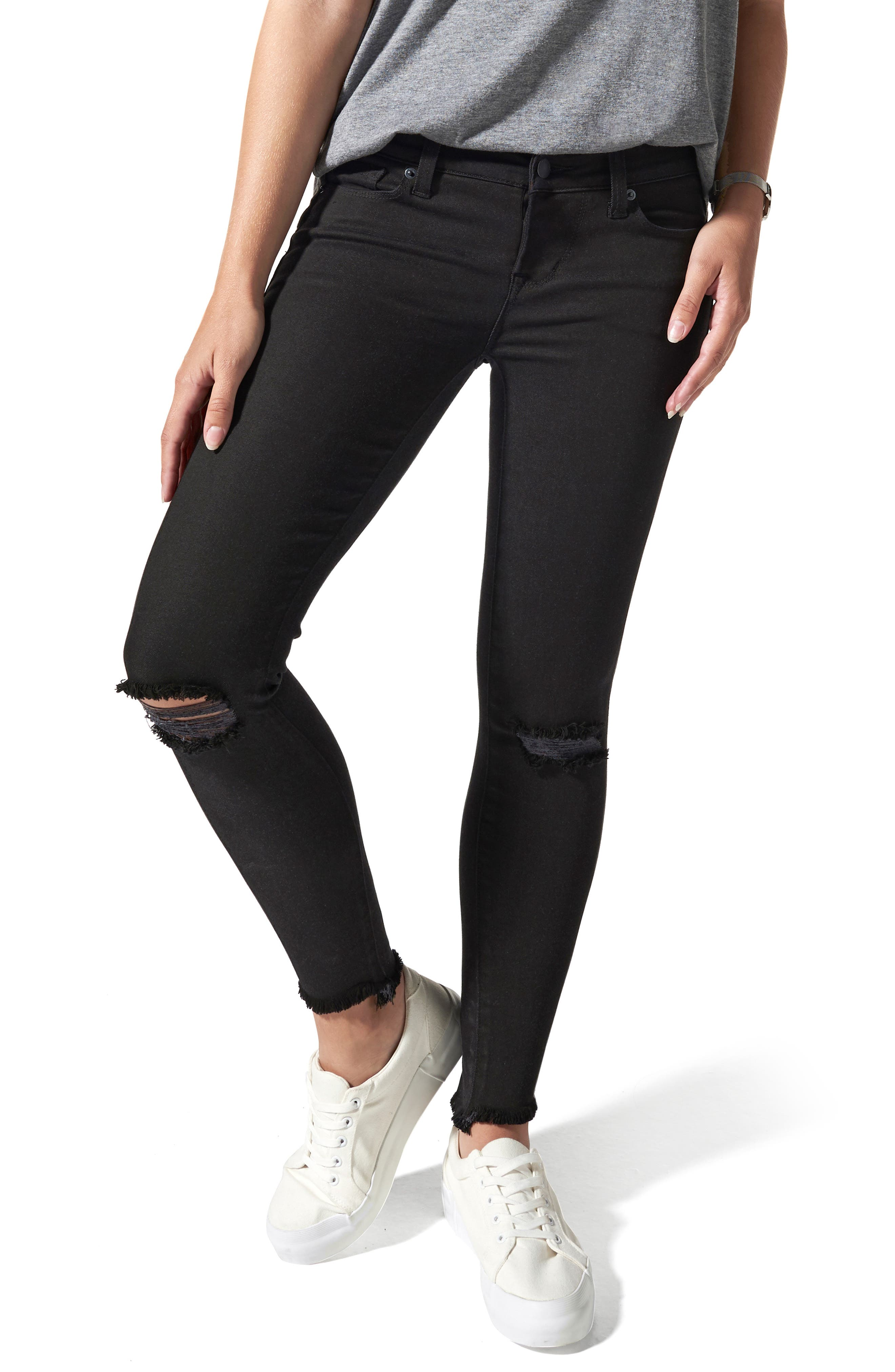 Ripped Postpartum/nursing Skinny Jeans
