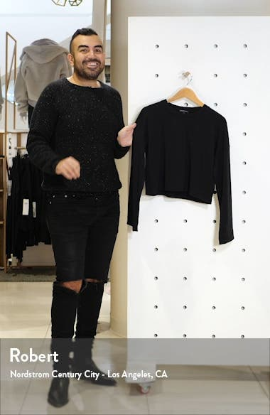 Tunnel Sleeve Crop Pullover, sales video thumbnail
