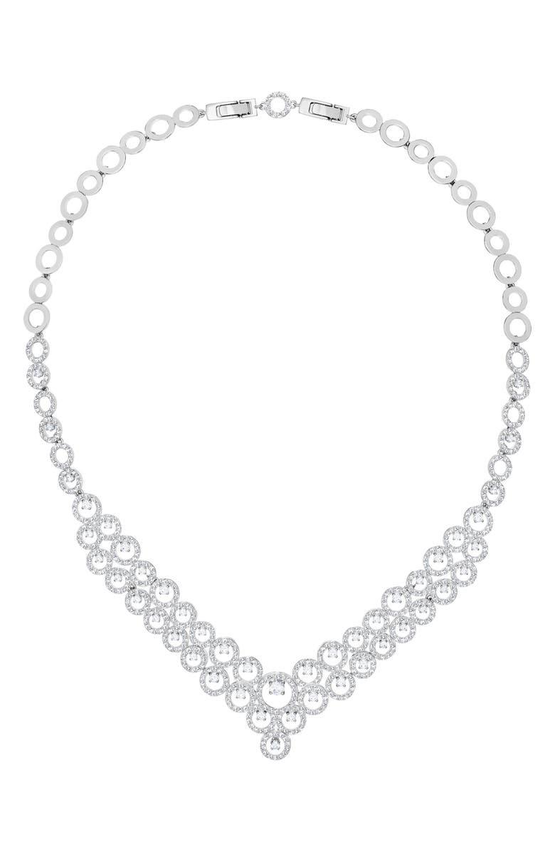 SWAROVSKI Creativity Crystal Bib Necklace, Main, color, 040