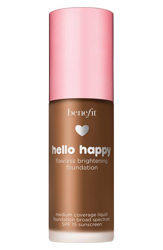 Benefit Cosmetics Benefit Hello Happy Flawless Brightening Foundation Spf 15, 1 oz In Shade 12- Dark Warm