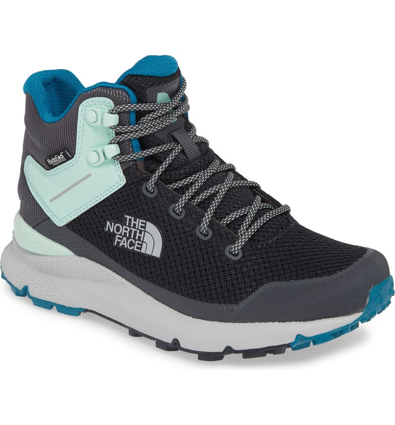 THE NORTH FACE Vals Waterproof Mid Hiking Boot, Main, color, EBONY GREY/ MICRO CHIP GREY