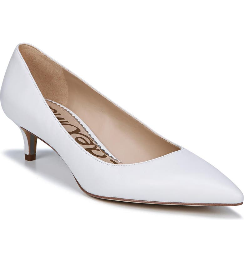 SAM EDELMAN Dori Pump, Main, color, BRIGHT WHITE LEATHER