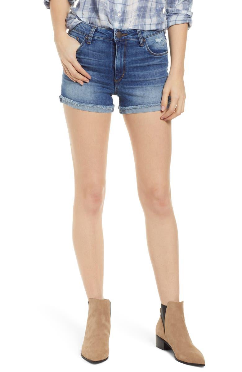 STS BLUE Molly High Waist Denim Shorts, Main, color, 400