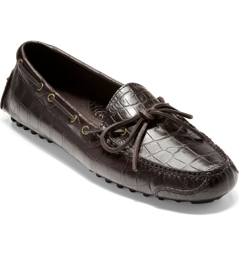 COLE HAAN 'Gunnison' Moccasin, Main, color, BROWN CROC