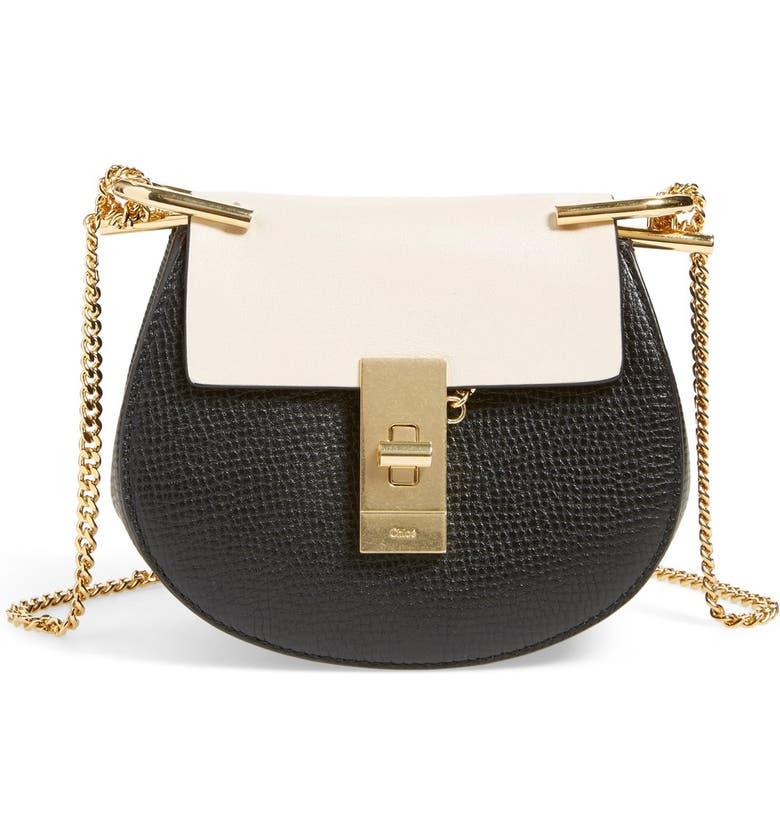 83523ad94f 'Nano Drew' Lambskin & Calfskin Leather Shoulder Bag