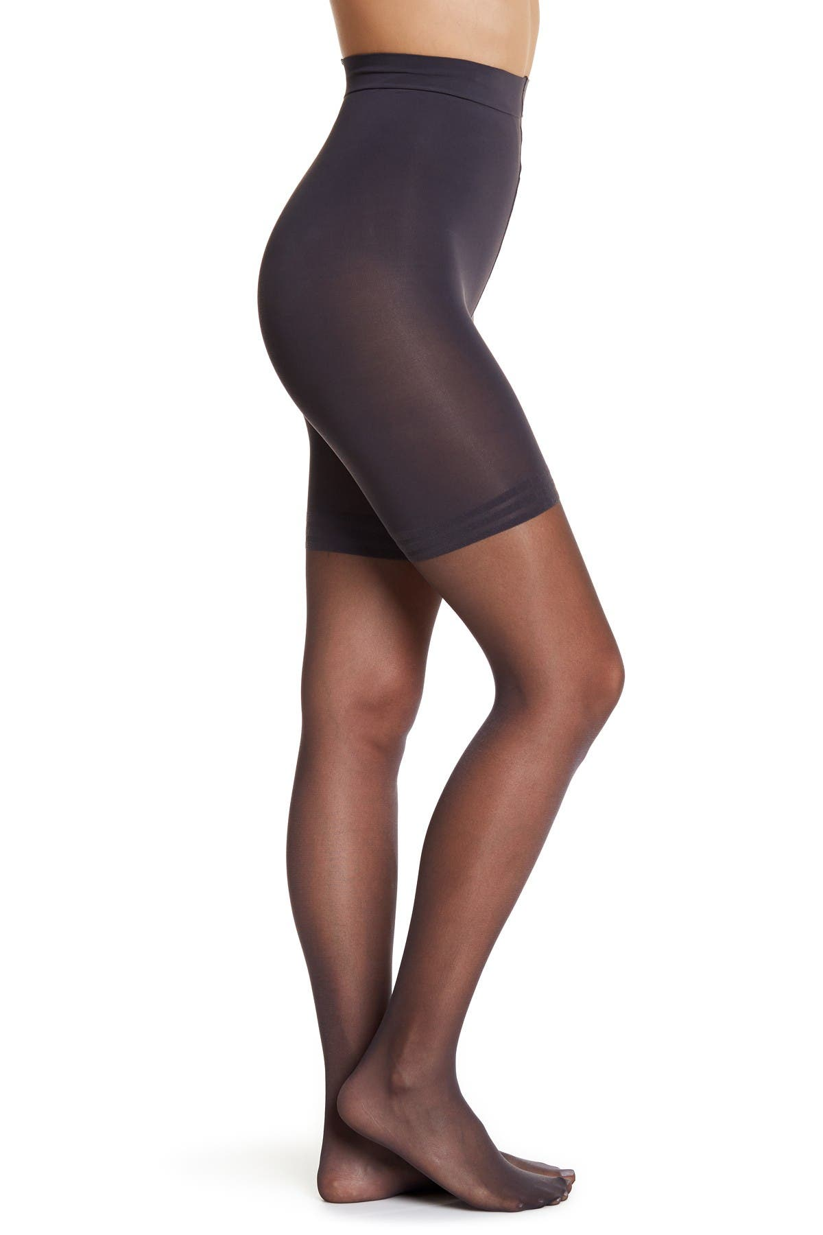 Style OEO18 3 Donna Karan Anti-Cellulite No-Hosiery Toner Pantyhose Onyx Medium