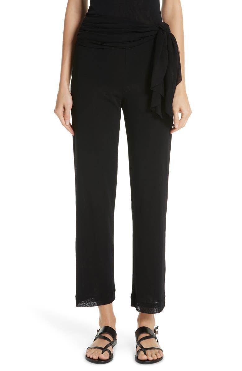 FUZZI Wrap Waist Crop Pants, Main, color, 001
