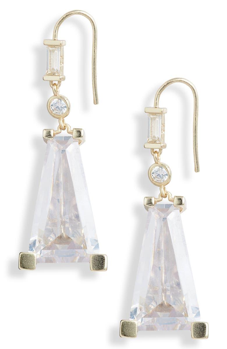 KENDRA SCOTT Everdeen Drop Earrings, Main, color, GOLD LUSTRE/ GLASS CZ