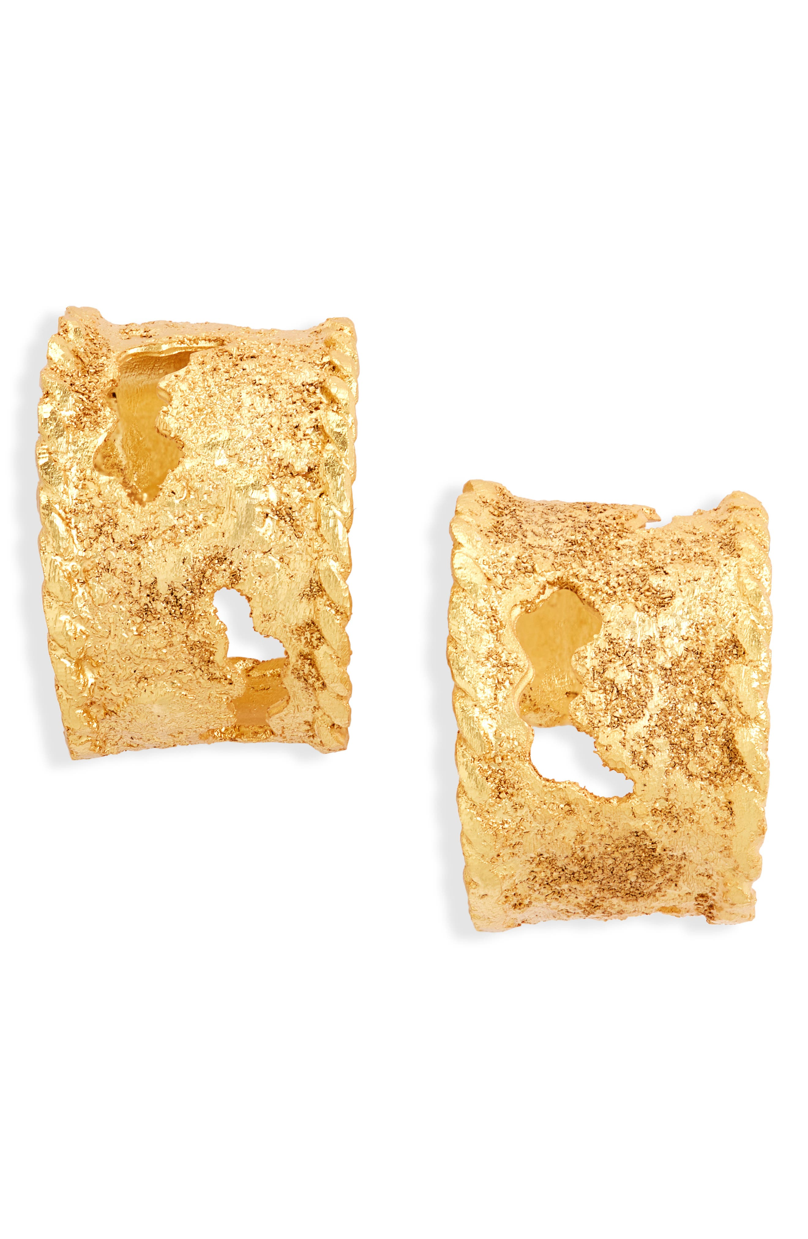Women's Crisobela Jewelry La Maga Mapa Hoop Earrings