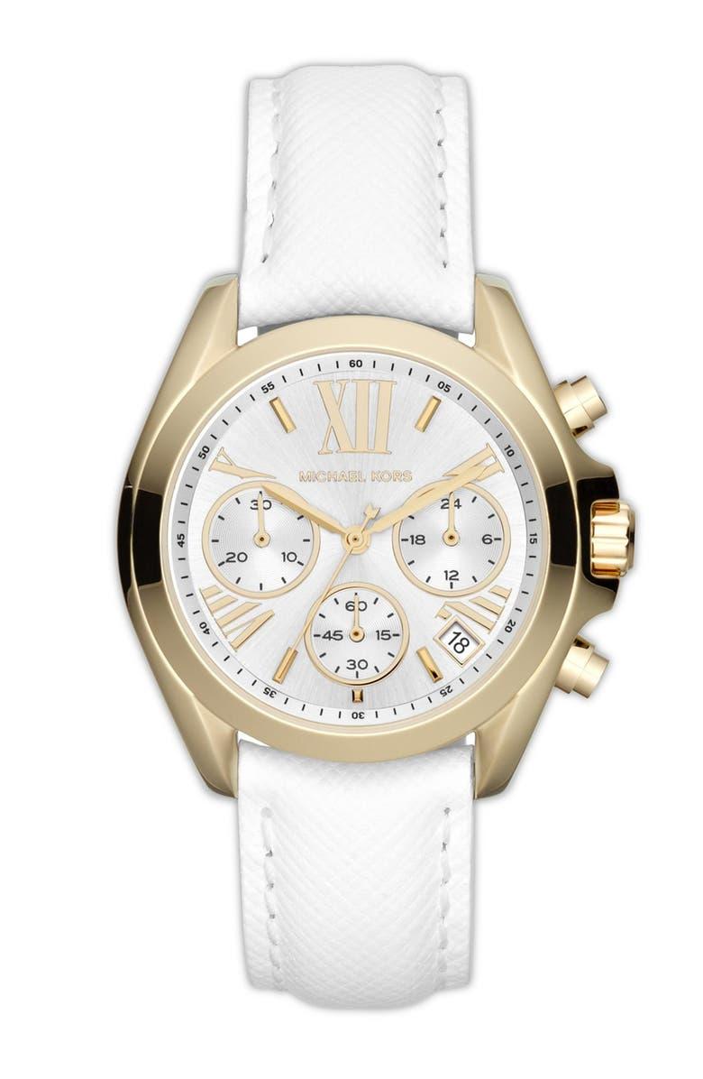 MICHAEL MICHAEL KORS Michael Kors 'Bradshaw - Mini' Chronograph Watch, 36mm, Main, color, 100