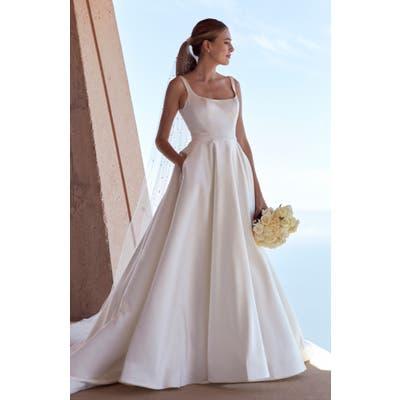 Watters Kitt Satin Wedding Dress, Size IN STORE ONLY - Ivory