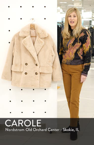 Kate Faux Fur Coat, sales video thumbnail