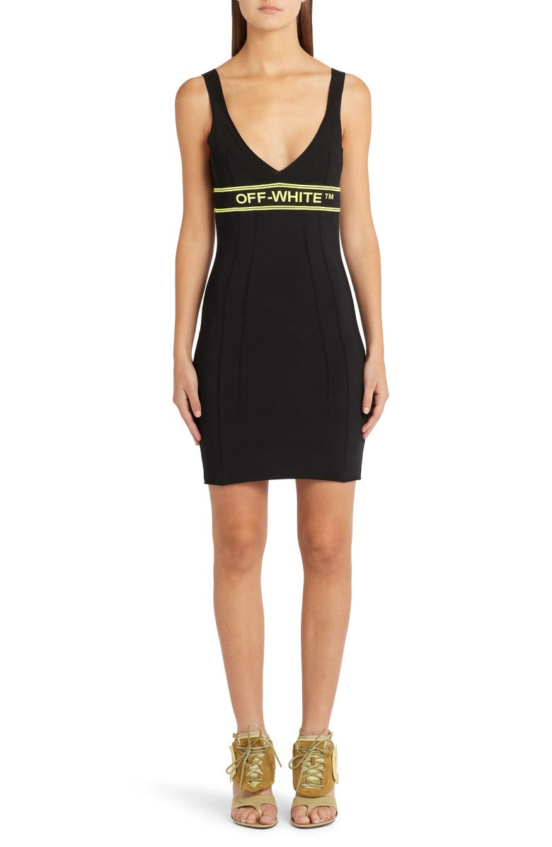 OFF-WHITE Sleeveless Sweater Dress, Main, color, 001