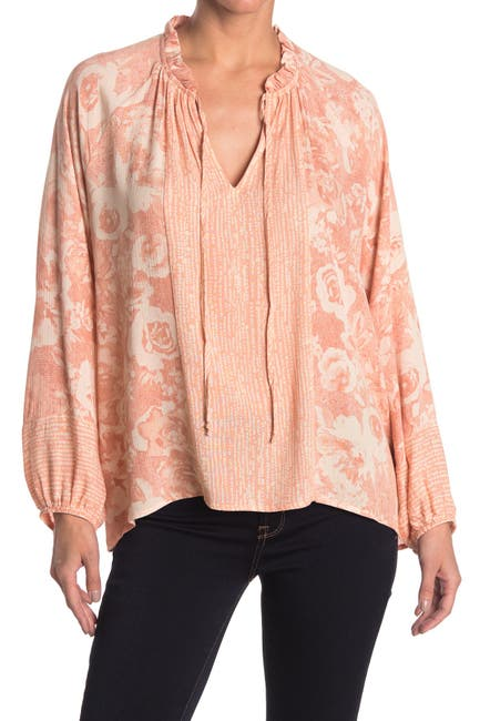 Image of Everleigh Printed Split Neck Peasant Tunic