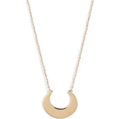 Knotty Crescent Pendant Necklace