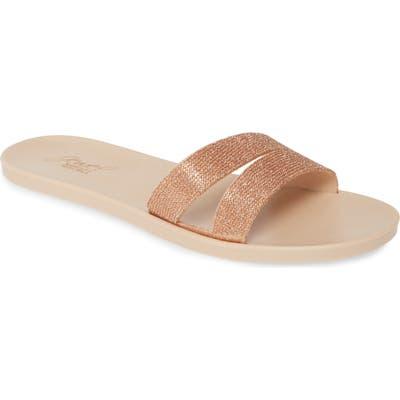 Jewel Badgley Mischka Butterfly Slide Sandal, Pink