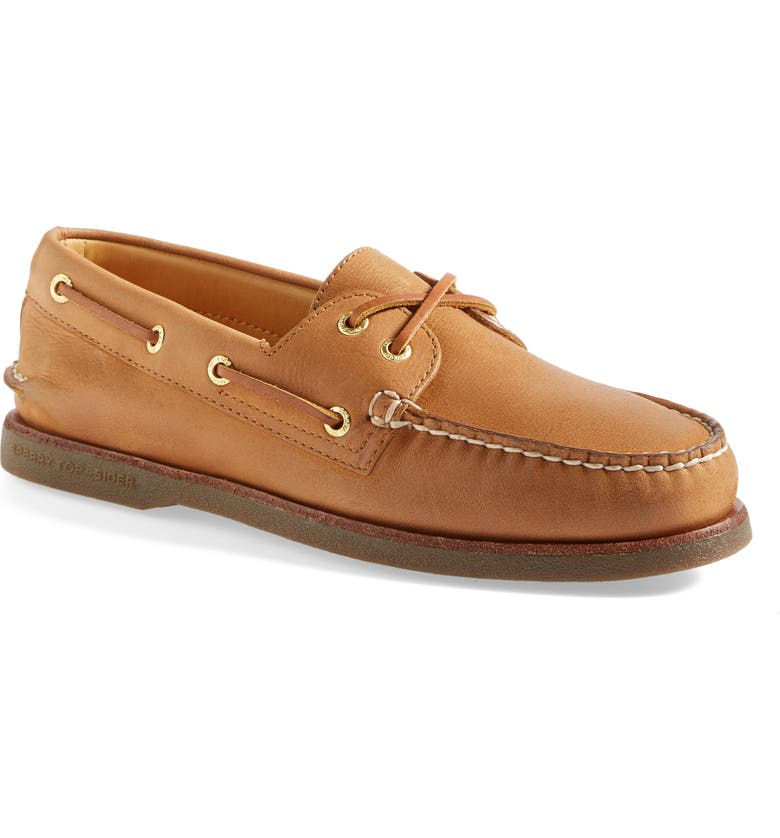 SPERRY 'Gold Cup - Authentic Original' Boat Shoe, Main, color, SAHARA LEATHER