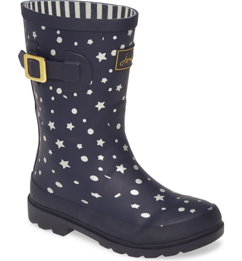 JOULES Welly Waterproof Rain Boot, Main, color, NAVY STARS