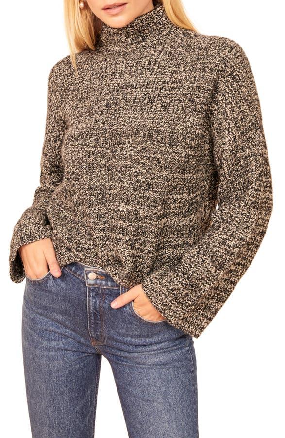 Reformation Sweaters FERN BOXY TURTLENECK YAK DOWN SWEATER