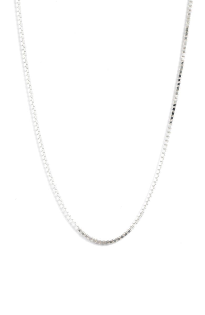 ARGENTO VIVO Box Chain Necklace, Main, color, 040