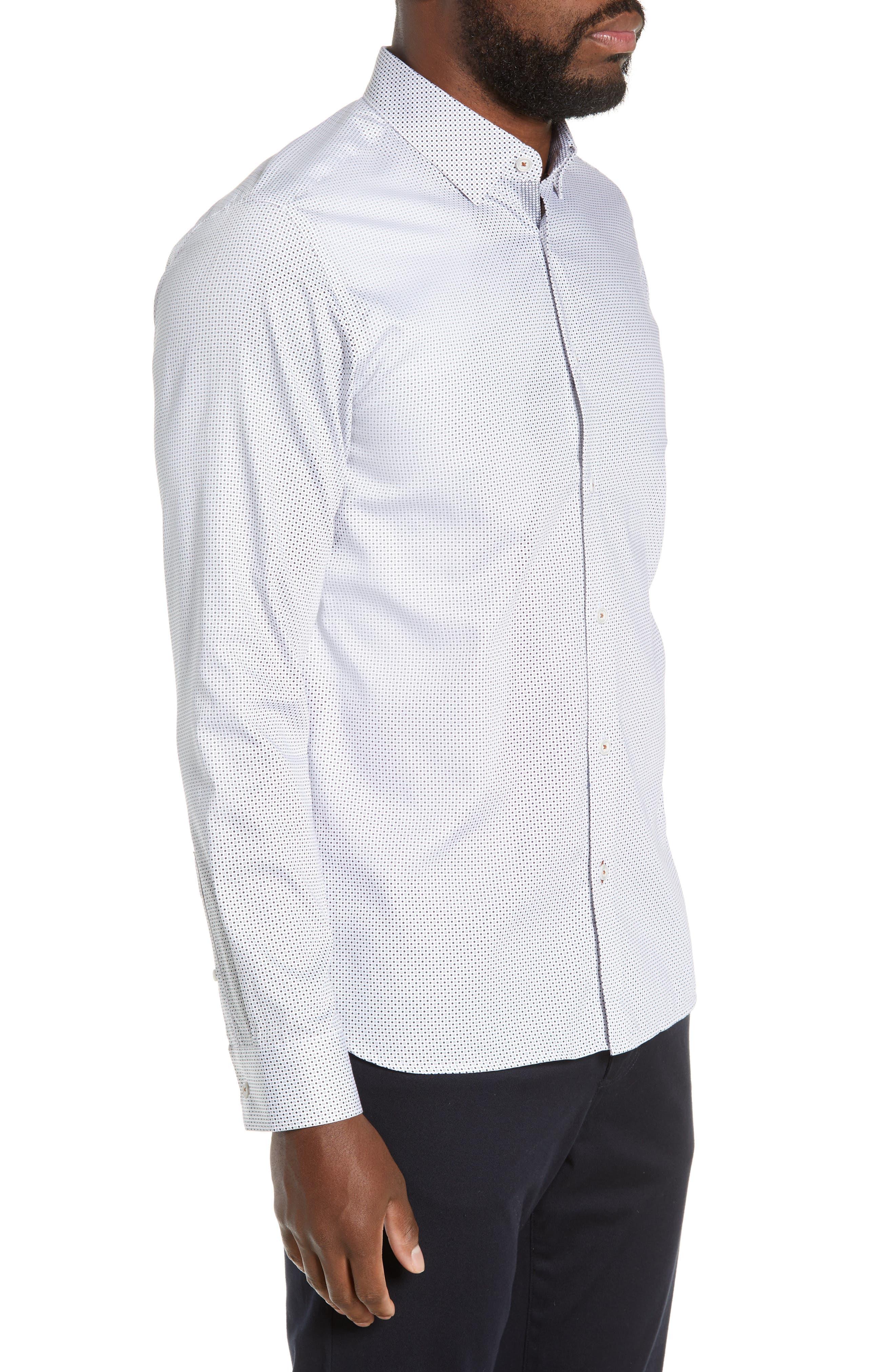 ,                             Subik Slim Fit Geo Print Sport Shirt,                             Alternate thumbnail 4, color,                             110