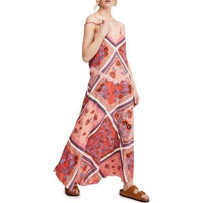 Free People Stevie Print Maxi Dress, Pink