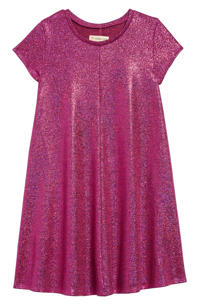 TUCKER + TATE Super Sparkle Dress, Main, color, METALLIC PINK