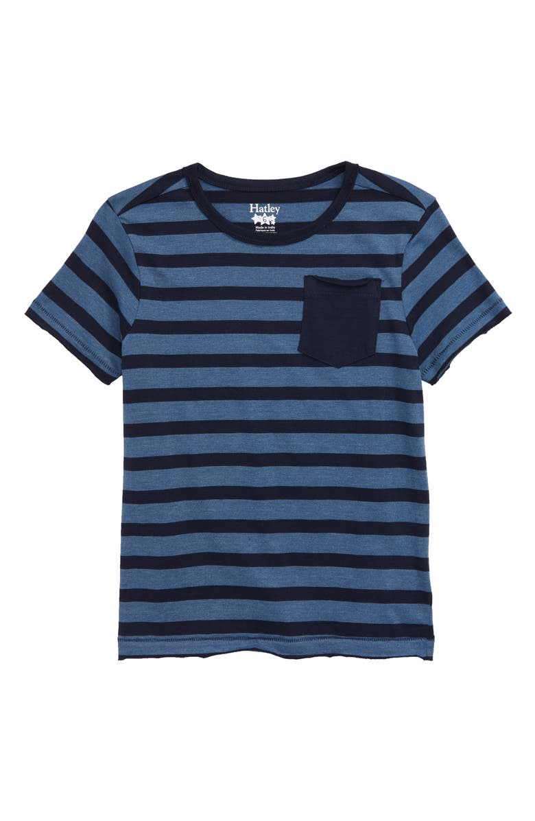HATLEY Solstice Stripe T-Shirt, Main, color, BLUE