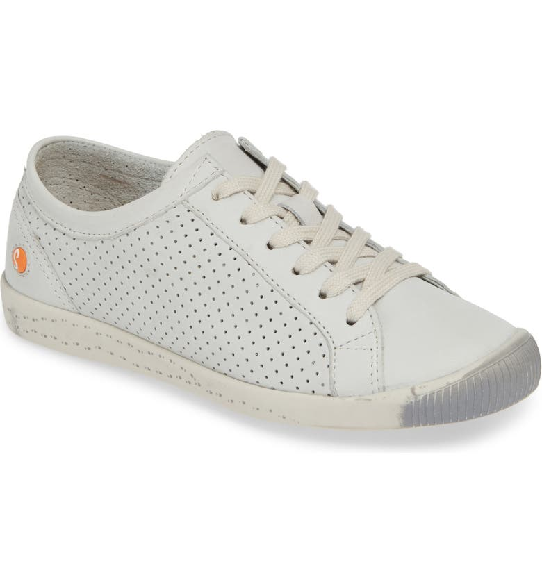 SOFTINOS BY FLY LONDON Ica Sneaker, Main, color, WHITE/ WHITE LEATHER
