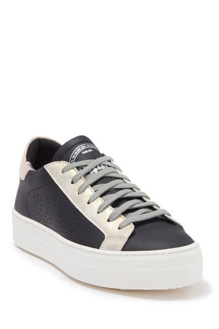 Image of P448 Thea Peforated Lace-Up Sneaker