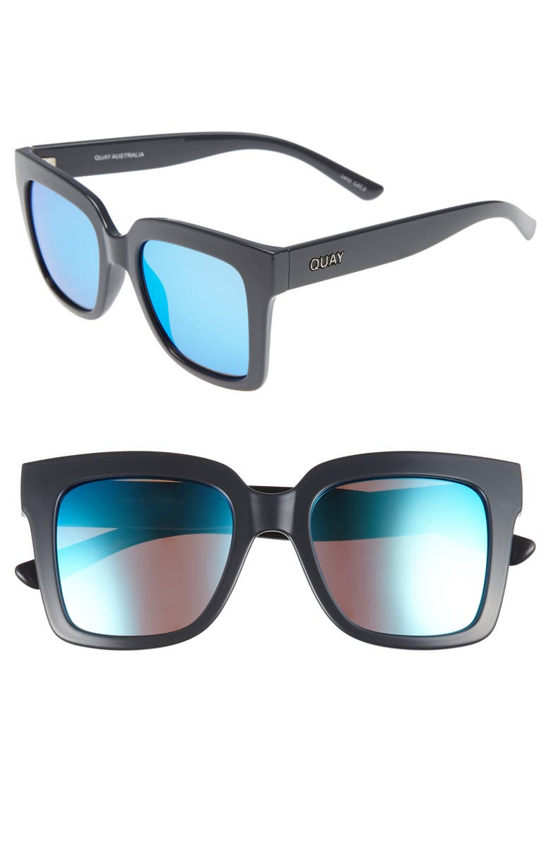 QUAY AUSTRALIA Supine 51mm Square Sunglasses, Main, color, 071