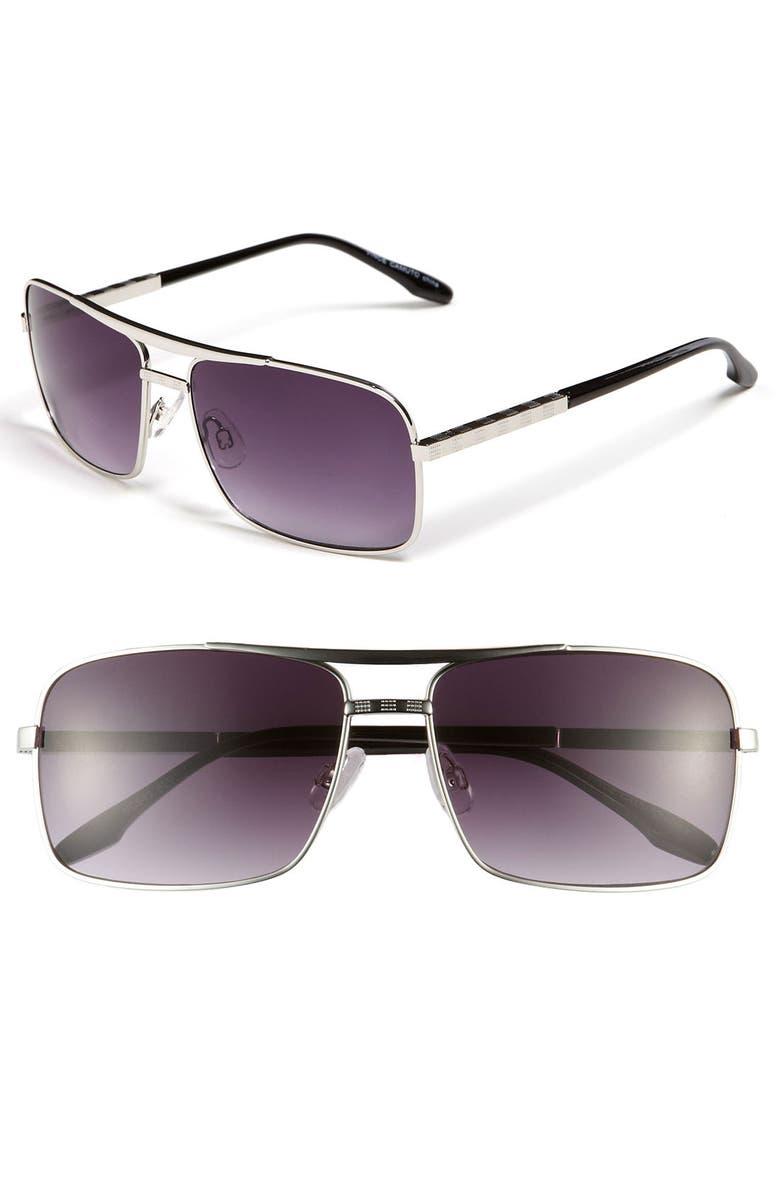 VINCE CAMUTO Metal Aviator Sunglasses, Main, color, 040