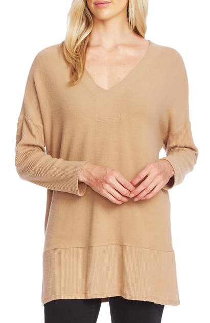 Vince Camuto Sweaters RIBBED DETAIL TUNIC SWEATER