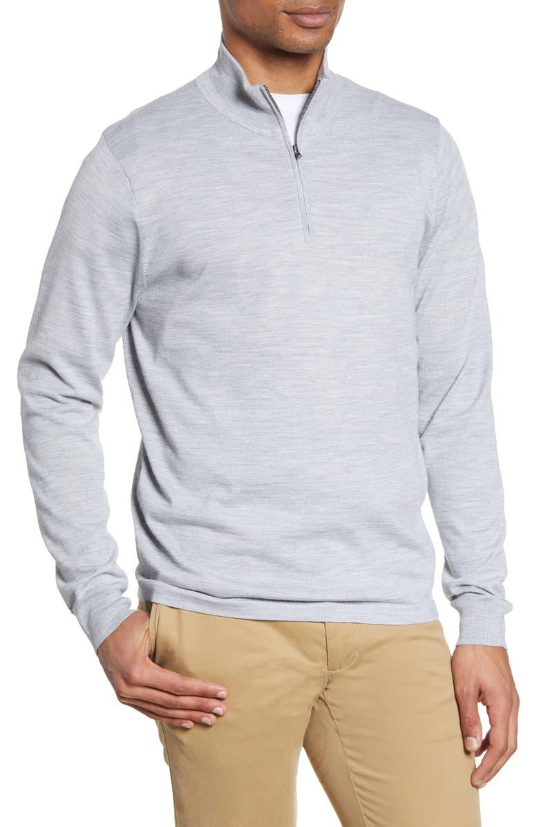 NORDSTROM MEN'S SHOP Tech-Smart CoolMax<sup>®</sup> Quarter Zip Pullover, Main, color, 050