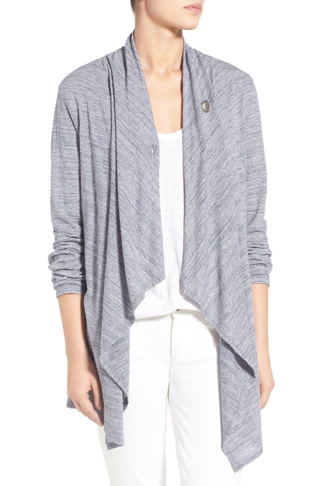 ,                             One-Button Fleece Wrap Cardigan,                             Alternate thumbnail 114, color,                             410