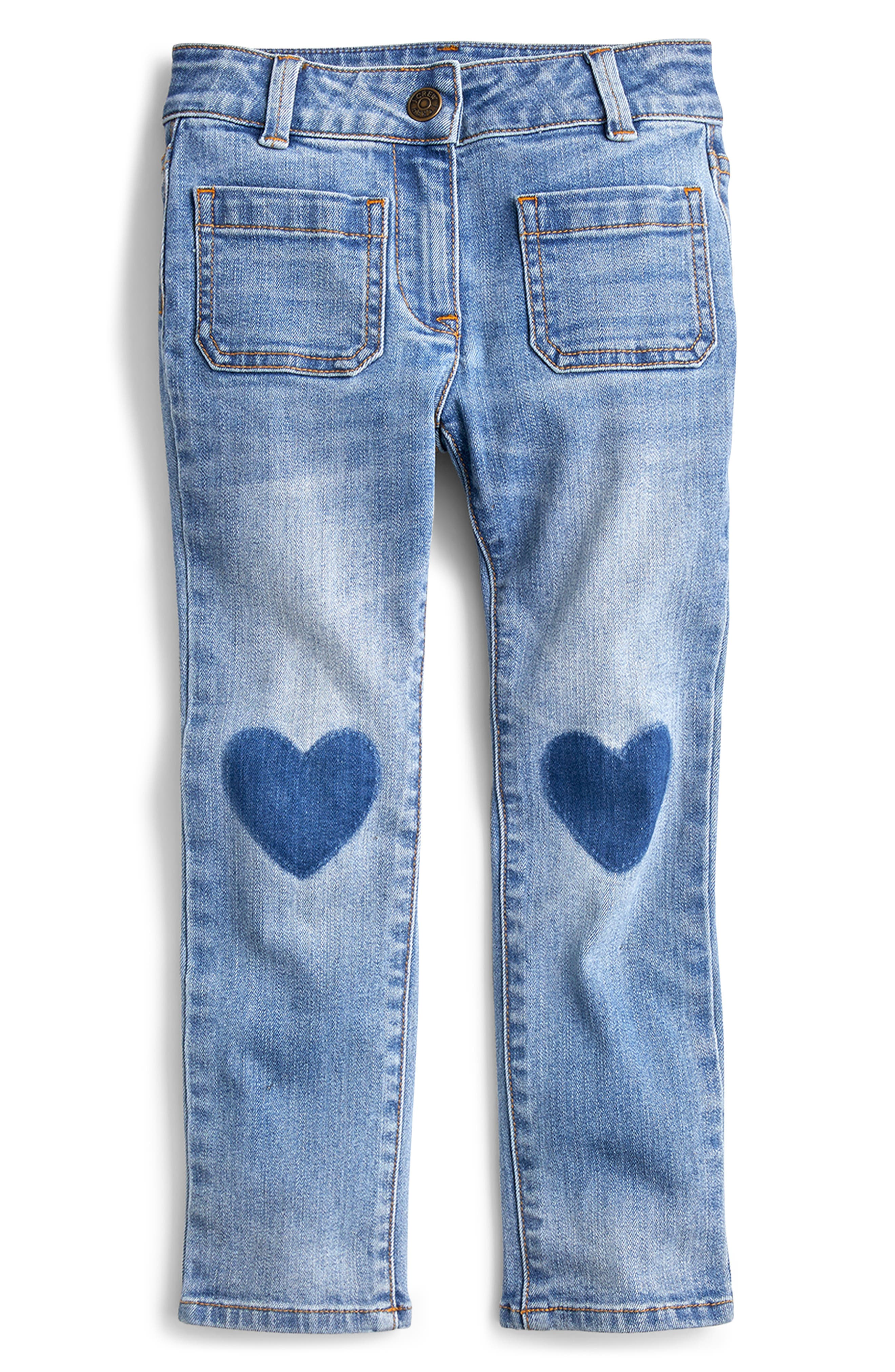 Toddler Girls Crewcuts By Jcrew Heart Patch Jeans Size 2T  Blue