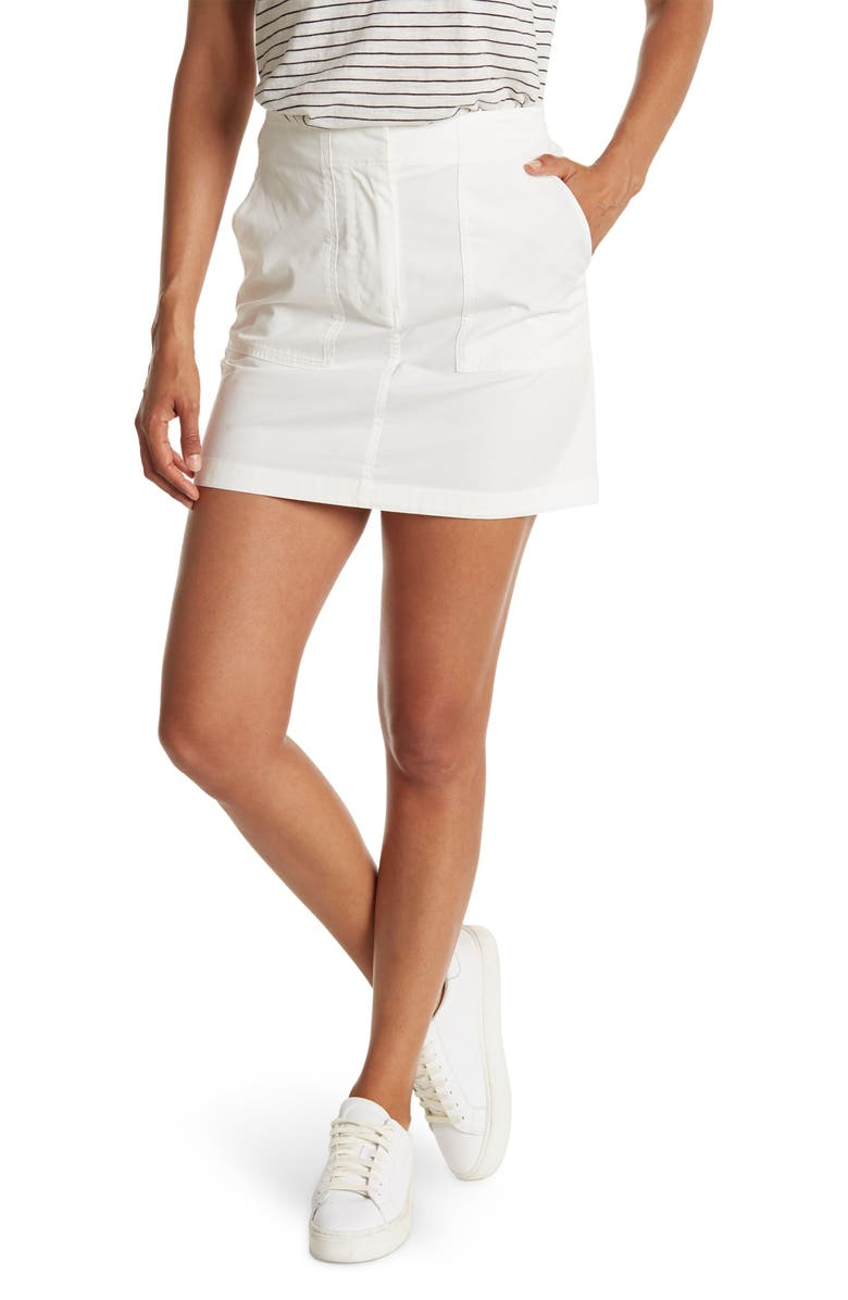 THEORY Utility Chino Skirt, Main, color, WHITE