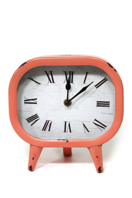 Image of Stratton Home Coral Susie Retro Metal Table Clock
