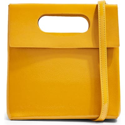Topshop Gem Flap Handle Grab Bag - Yellow