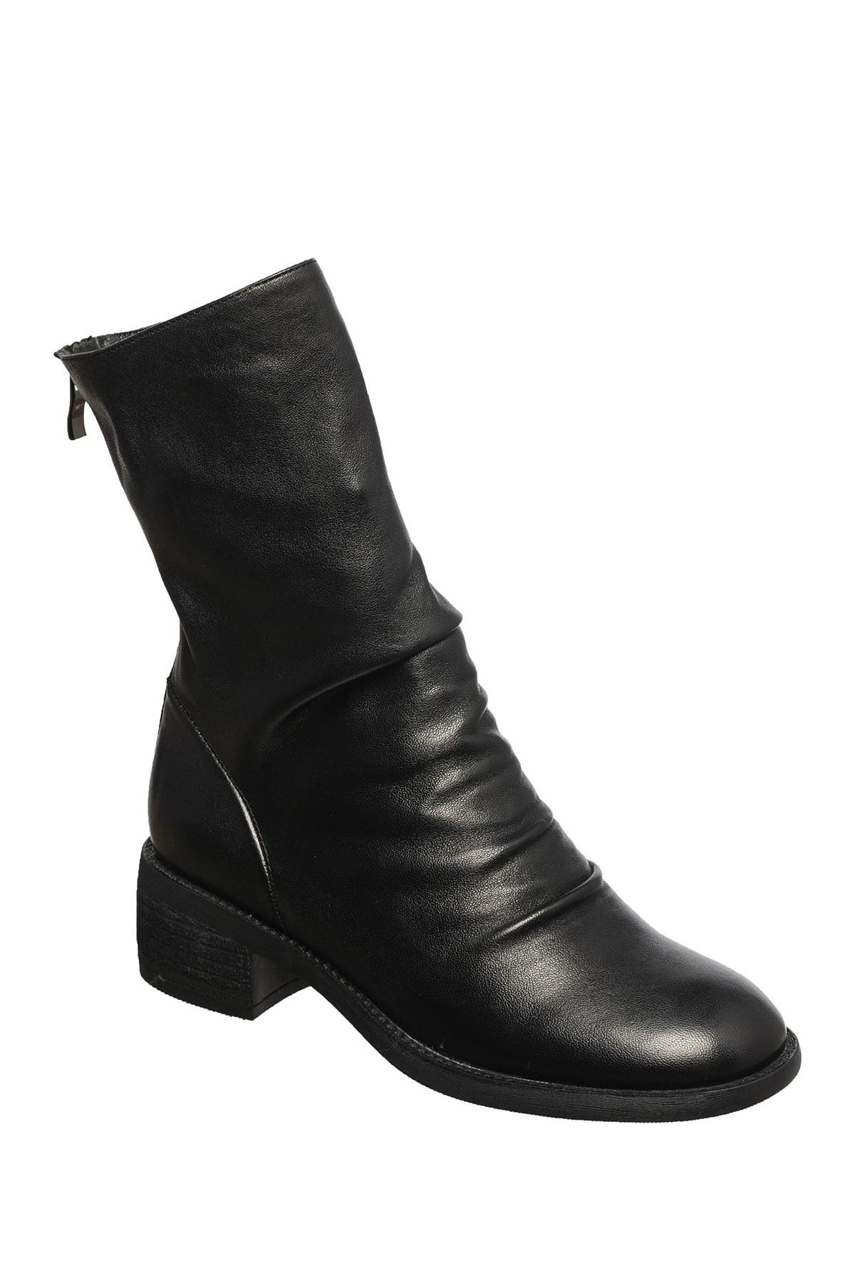 Image of Antelope Ruched Leather Boot