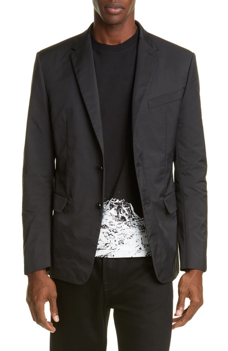 VALENTINO Slim Fit Blazer, Main, color, BLACK