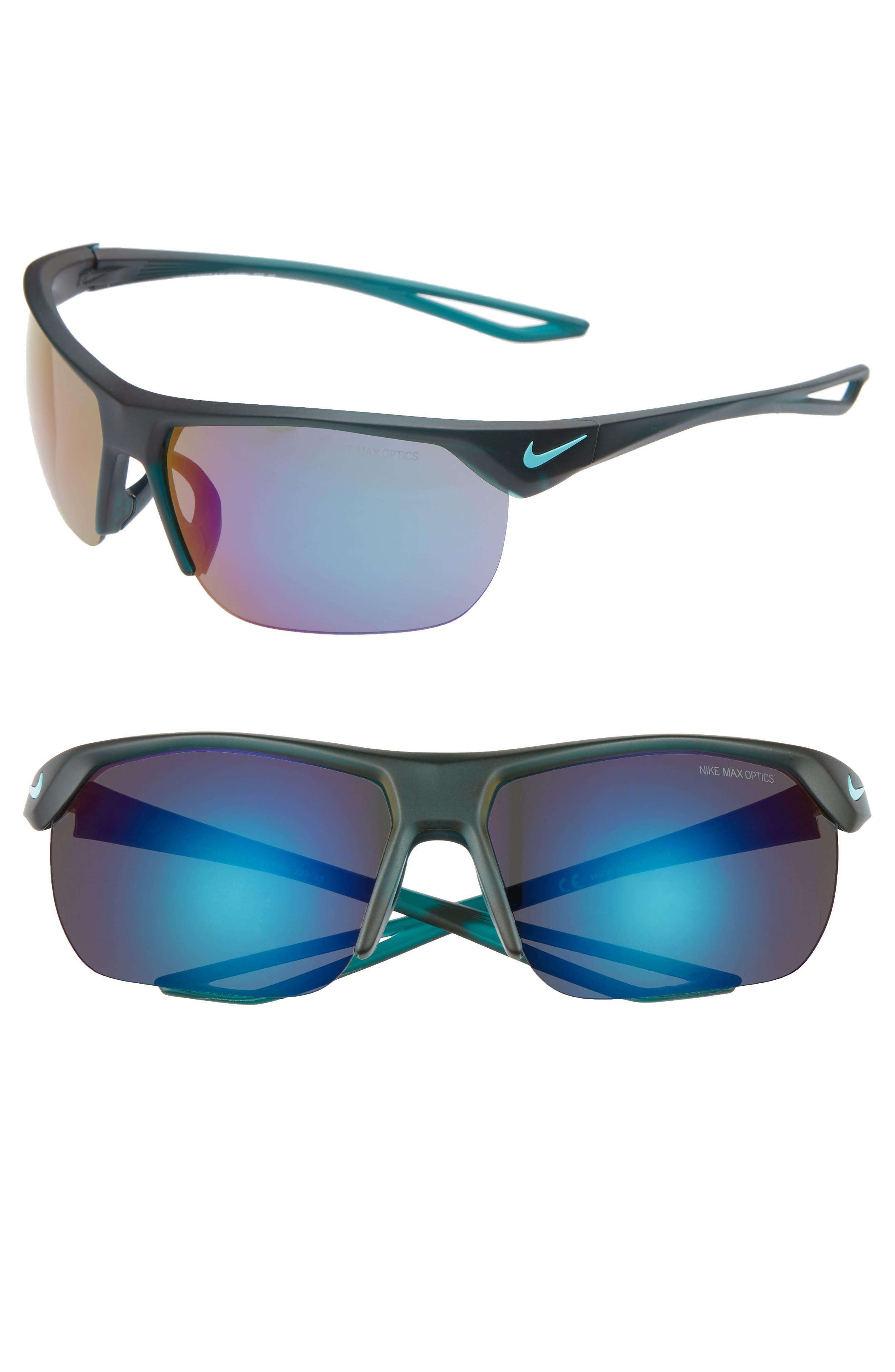 Nike Trainer 6m Mirrored Shield Sunglasses - Grey/ Dark Teal