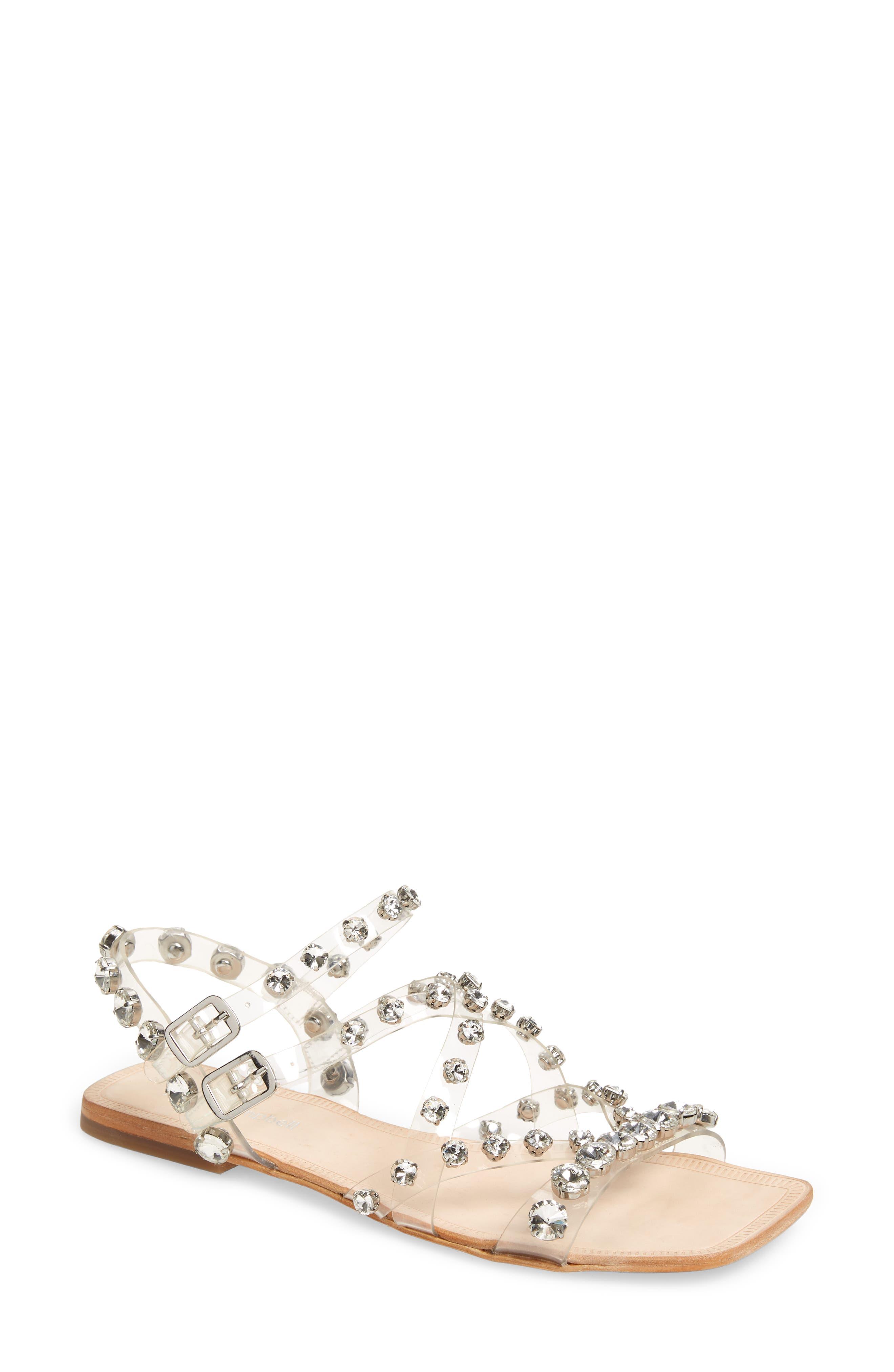Calath-Jv Crystal Embellished Strappy Sandal