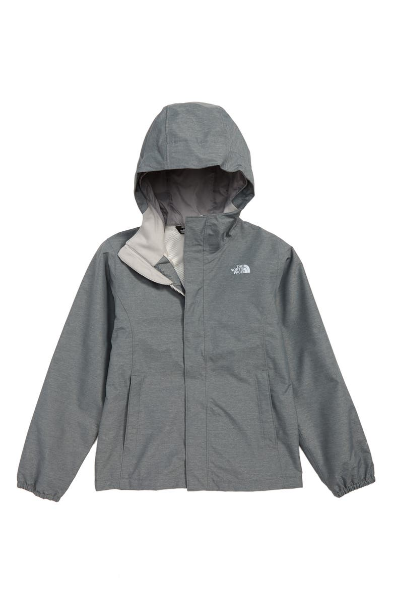 THE NORTH FACE Resolve Reflective Waterproof Jacket, Main, color, GRAPHITE GREY HEATHER