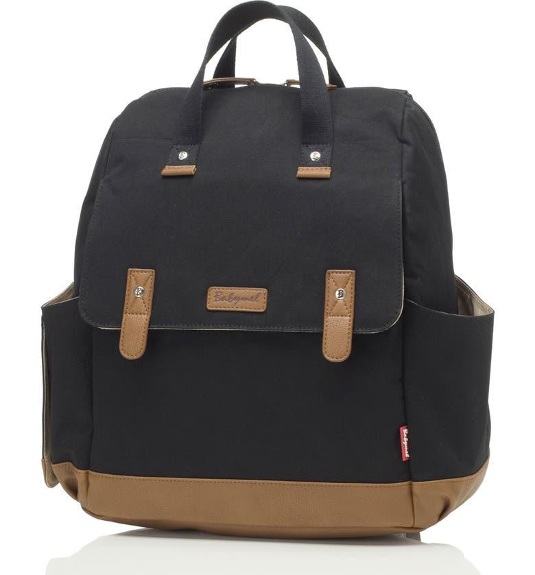 BABYMEL Robyn Convertible Diaper Backpack, Main, color, BLACK